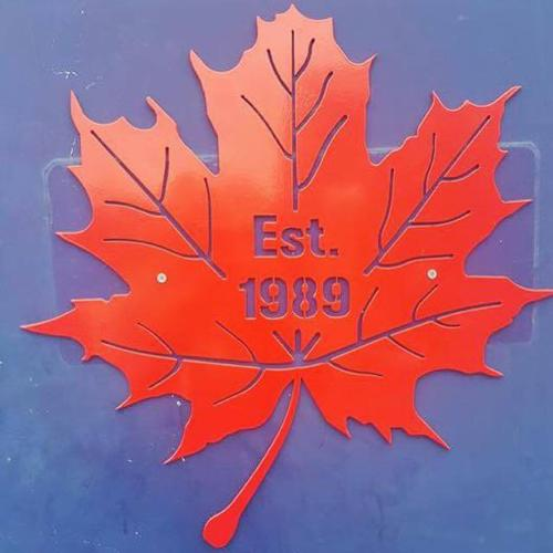 Maple Leaf Sign
